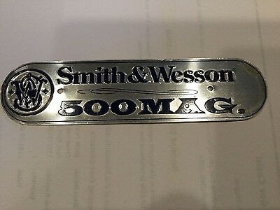 NICE! Vintage Pistol SMITH WESSON Aluminum Gun SIGN Bullet Ammo Box Tag 500 Mag