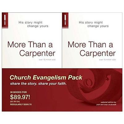 More Than a Carpenter 30 Pack, Church Evangelism Pack 30-Pack by Josh D McDowell