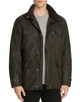 Barbour Sapper Men's Waxed Cotton Jacket Olive Size Large -$429