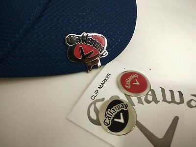 2 Callaway Golf Ball Marker & Cap Hat Clip with FREE Postage Brand New