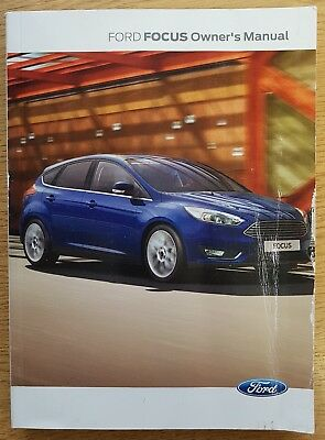 genuine new shape ford focus handbook owners manual 2014 2018 book rh picclick co uk owners manual 2012 ford focus owners manual 2013 ford focus se