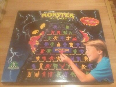 'NEW' The Original Monster in my pocket stand and full 1st Edition