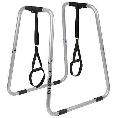 DTX Parallel Bar Dip Station Paralettes Calisthenics Bodyweight Strength Trainer