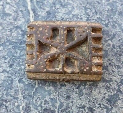 Good Quality Small Heavy Flat West African Tribal Akan Ashanti Ghana Gold Weight