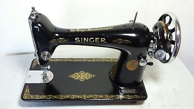 Heavy Duty Singer 66K Sewing Machine, sews Leather, Serviced