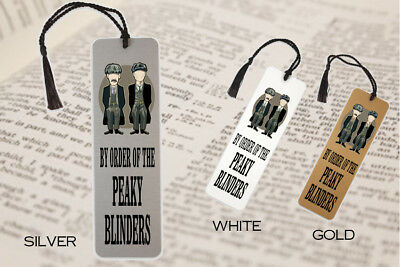By Order of the Peaky Blinders TV  Quote Metal Bookmark Gift Book Tommy Shelby