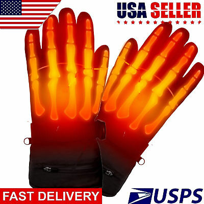 Winter Warm Rechargeable Electric Battery Heated Gloves Waterproof Warmer Gloves