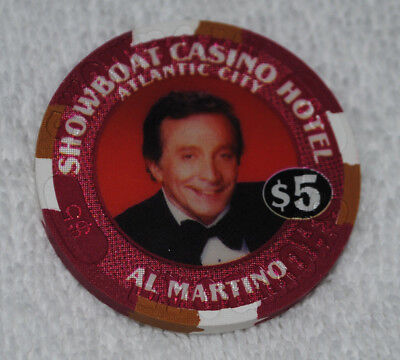 Al Martino Showboat Atlantic City $5 Casino Chip