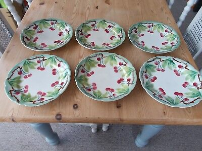 antique french plates Set of 6.
