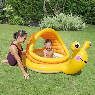 INTEX Lazy Snail Baby Toddler Sun Shade Childs Kids Canopy UV Paddling Pool