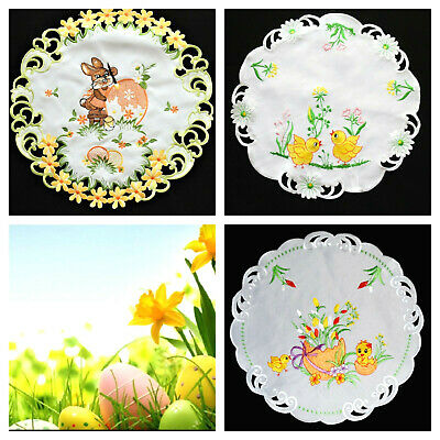 Basket Embroidered Easter Tablecloth Doily Table runners SERWETKI WIELKANOC