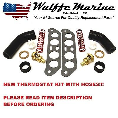 Thermostat Kit W Hoses Johnson Evinrude 90 110 115 140 hp V4 Crossflow 18-3673