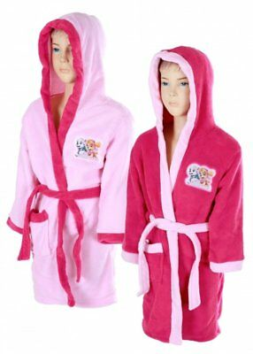 BRAND NEW Paw Patrol Dressing Gown Bathrobe Hooded Robe Girls 3-8Y Skye Everest