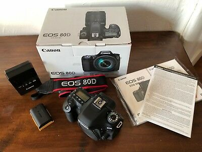 Canon EOS 80D 24.2MP DSLR Camera - Black (Body Only) - Great condition!