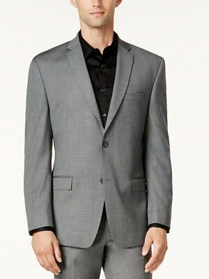 $296 ANDREW MARC NEW YORK mens GRAY FIT SUIT BLAZER JACKET SPORT COAT 40 S