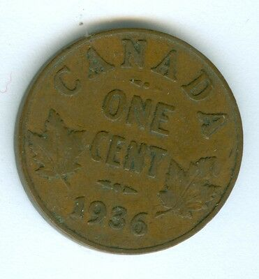 Canada 1936 Cent--Circulated