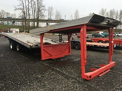 2007 Miller Industries 28' Chevron 4-Car Carrier Rollback Bed Spring Valley Axle