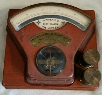 Weston's Direct-Reading AM-METER 1888 Weston Electrical Instrument Co. Newark,NJ