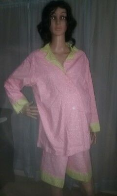 Women's  2pc Mum's & Blossums Maternity pajamas SIZE Medium *New