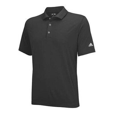 adidas Men's Puremotion Solid Jersey Golf Polo Shirt Black/White S