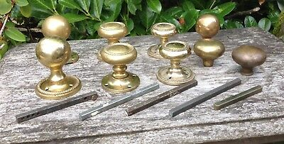 Vintage Antique Reclaimed Brass Door Knobs Mixed Selection 9 Steampunk Projects
