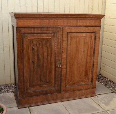 Gorgeous Antique Mahogany Cupboard Linen Press Housekeepers Cabinet Inlaid