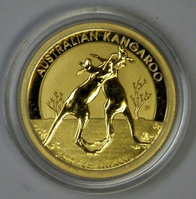 2010 GOLD Australia Kangaroo Boxing 1/4 oz BU Uncirculated Low Mintage + Capsule