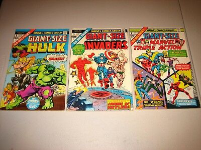 Giant Size Hulk,Invaders,Triple Action#1. VG