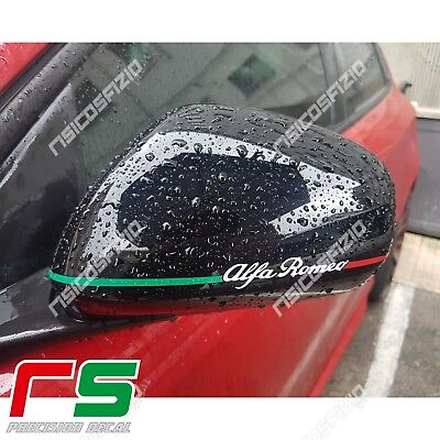 alfa romeo mito giulietta 159 ADESIVI sticker specchietti decal tricolore light