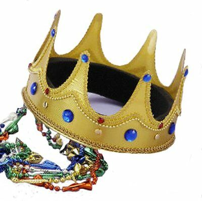Royal Medieval Celtic Gold  King Prince Crown with Gems  Renaissance Costume