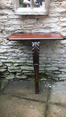 19th Century carved and inlaid  mahogany ConsoleTable