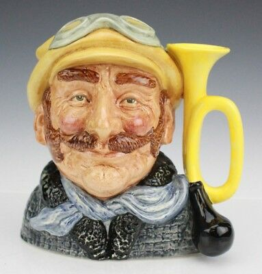 Retired Royal Doulton Veteran Motorist D6633 Large Character Signed Toby Jug Mug
