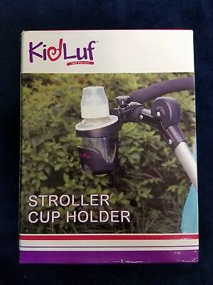 baby stroller cup holder by kidluf black handle attachment