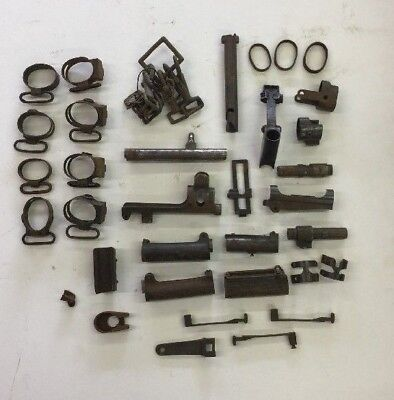 Lot of Vtg misc gun/rifle parts (Bolts, sights, rings strap clips, Etc)