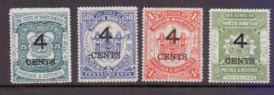 NORTH BORNEO Fine MINT Hinged and Used Collection of 11 early issues