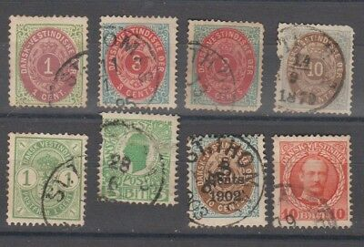 Danish West Indies - Early Issues - Different Shades 3Cents -  Mixed Condition
