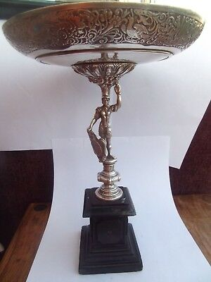 Stunning Lovely Large Antique Silver Tazza / Comport, Stunning Detail