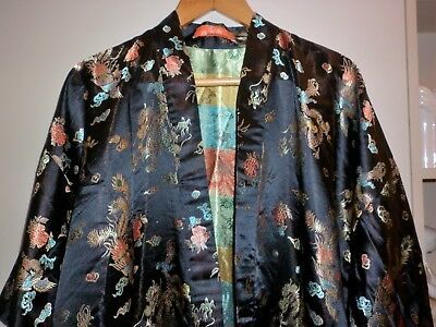 Vintage Chinese Brocade  Dressing Gown  Size Xl Excellent Condition