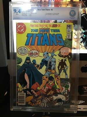 DC Comics New Teen Titans #2 CBCS 9.4 NM 1980 First Deathstroke the Teminator