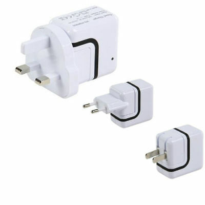 Ex-Pro® Mains AC Worldwide DUAL USB Travel Charger White for iPod touch 5th Gen