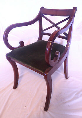 Original Edwardian Arm or Carver Chair, Hall, Dining or Bedroom use, Project.