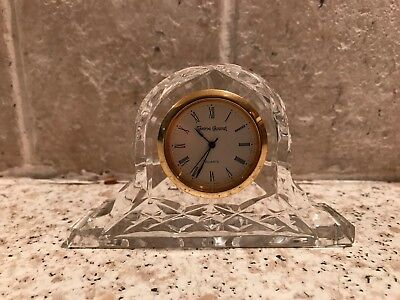 Irish Tryone Crystal Cut Glass Antique Collectable Mantle Clock Small Free Post