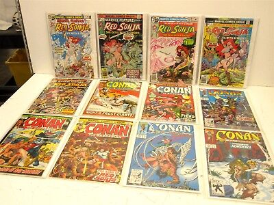 Assorted Vintage Lot of Marvel Comics Conan, Red Sonja+More