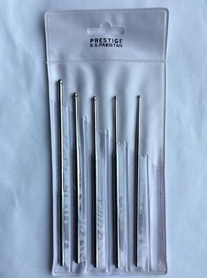 Prestige 5 Ball Tip Steel Sexing Probe Set with Pouch - For Reptiles Snakes