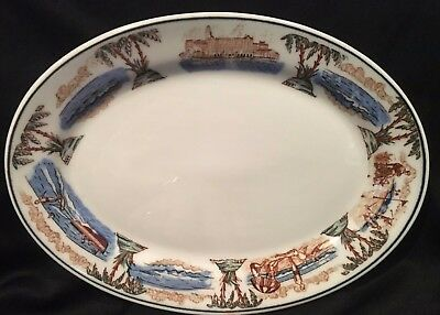 """1930-1940s THE VINOY PARK HOTEL St Pete FL 8.25"""" x 6"""" Oval Platter McNicol China"""