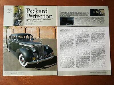1940 Packard Model 120 - Original 6 Page Article - Free Shipping