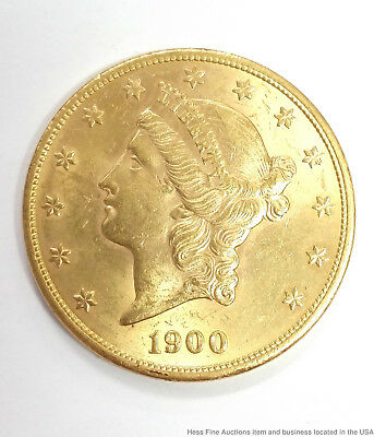 1900 Liberty Head $20 Dollar Double Eagle American Gold Coin Genuine Filler