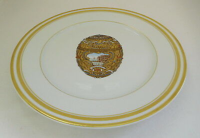 Limoges France Faberge Imperial Peter The Great Egg Plate Gold Gilded 27.5cms