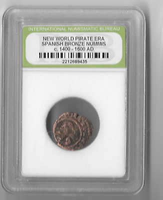 Rare Very Old Ancient Antique Spanish Pirate Era Nice Collection Coin - LOT:AB22