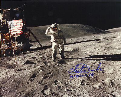 Charlie Duke NASA Apollo astronaut signed autographed photo IN PERSON